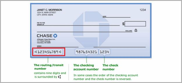 Account Number On Check Chase