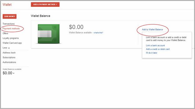 Add Money To Google Play Wallet