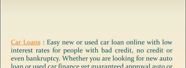 Best New Car Loan Rates April 2019