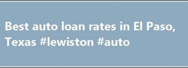 Best New Car Loan Rates Texas