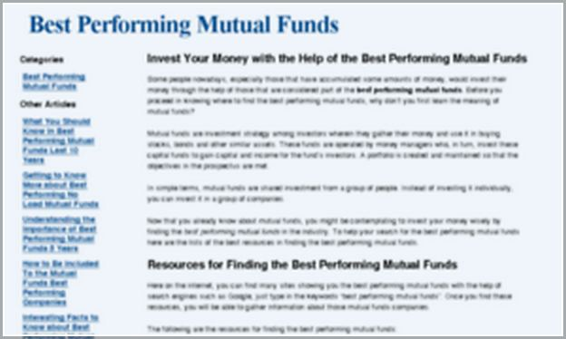 Best Performing Mutual Funds