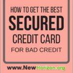 Best Starter Credit Card For Bad Credit