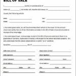 Bill Of Sales Car