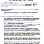 Blank Lease Agreement Nj