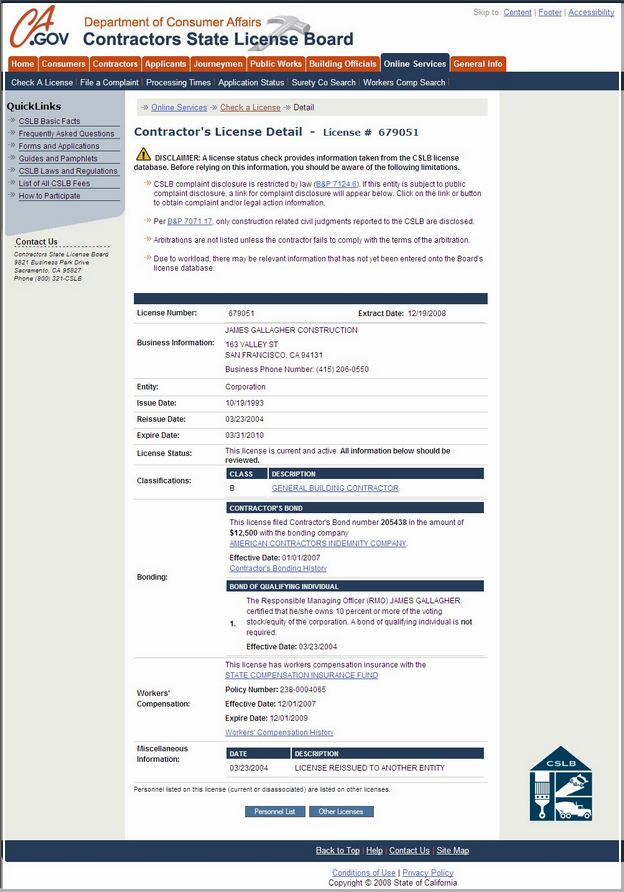 California Insurance Department License Lookup