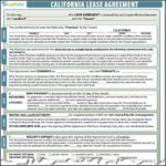California Lease Agreement 2019