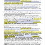 California Lease Agreement Form Pdf