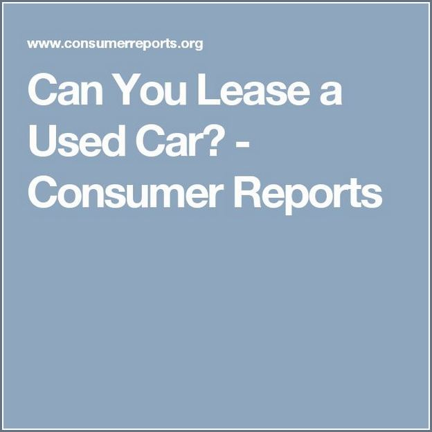 Can You Lease A Used Car For A Year