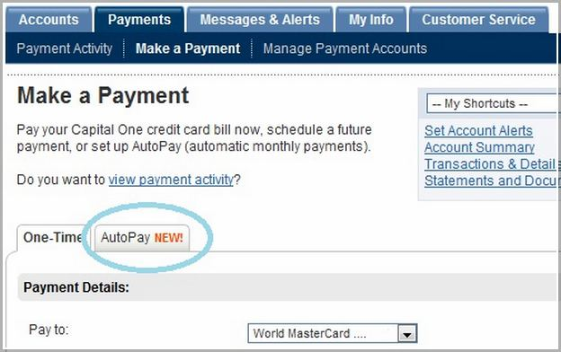 Capital One Auto Loan Payment With Credit Card