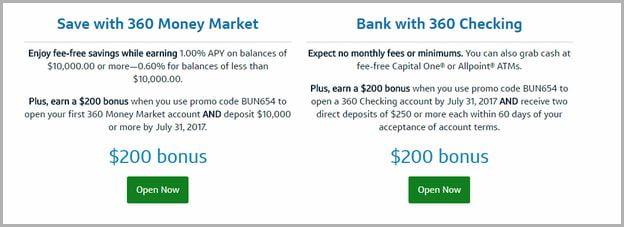 Capital One Money Market Bonus Code