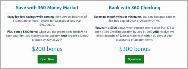Capital One Money Market Bonus Promo Code