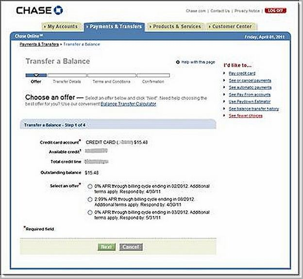 chase bank cc phone number