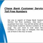 Chase Bank Toll Free Number