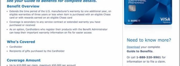Chase Freedom Extended Warranty Refurbished