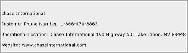 Chase Toll Free Number Canada