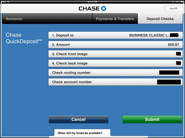Check Account Number On Chase App