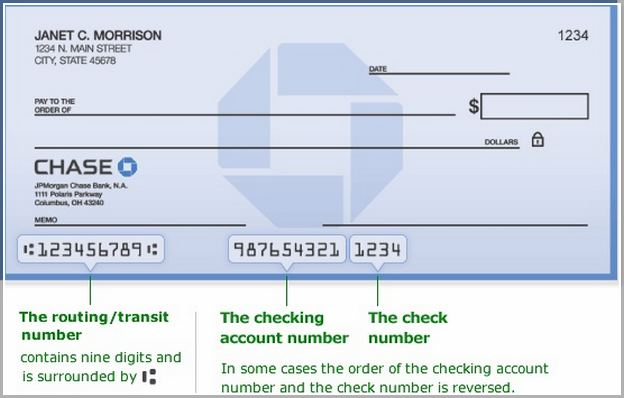 Checking Account Number On Check Chase