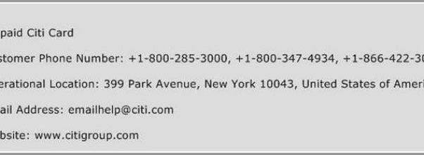 Citi Cards Customer Service Address