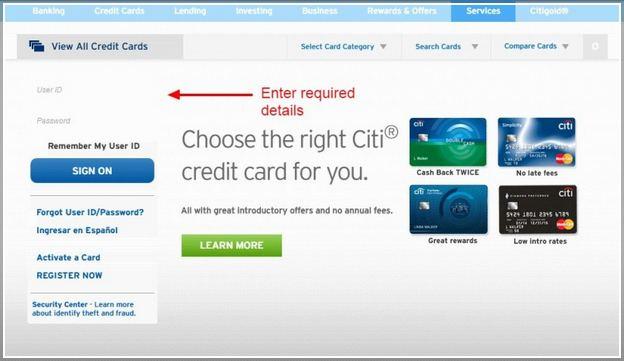 Citi Costco Business Credit Card Login