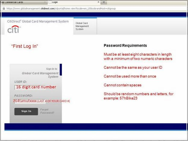 Citibank Government Travel Card Login Citidirect