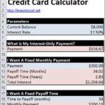 Credit Card Apr Calculator