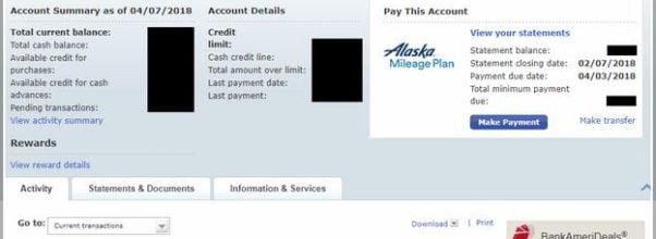 Credit Card Closing Date Bank Of America