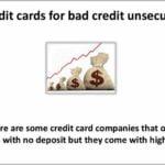 Credit Cards For Bad Credit No Deposit