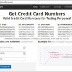 Fake Credit Card Info For Free Trials