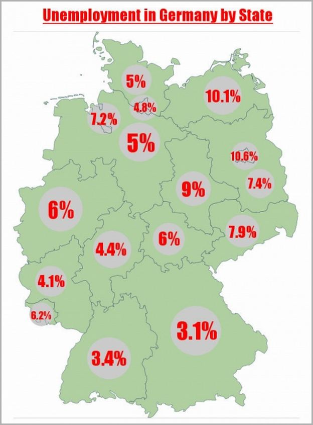 Germany Unemployment Rate By Region
