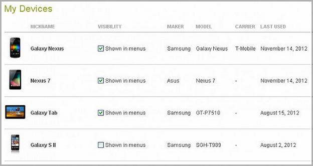 Google My Devices