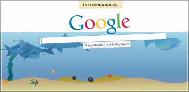 Google Zero Gravity I'm Feeling Lucky
