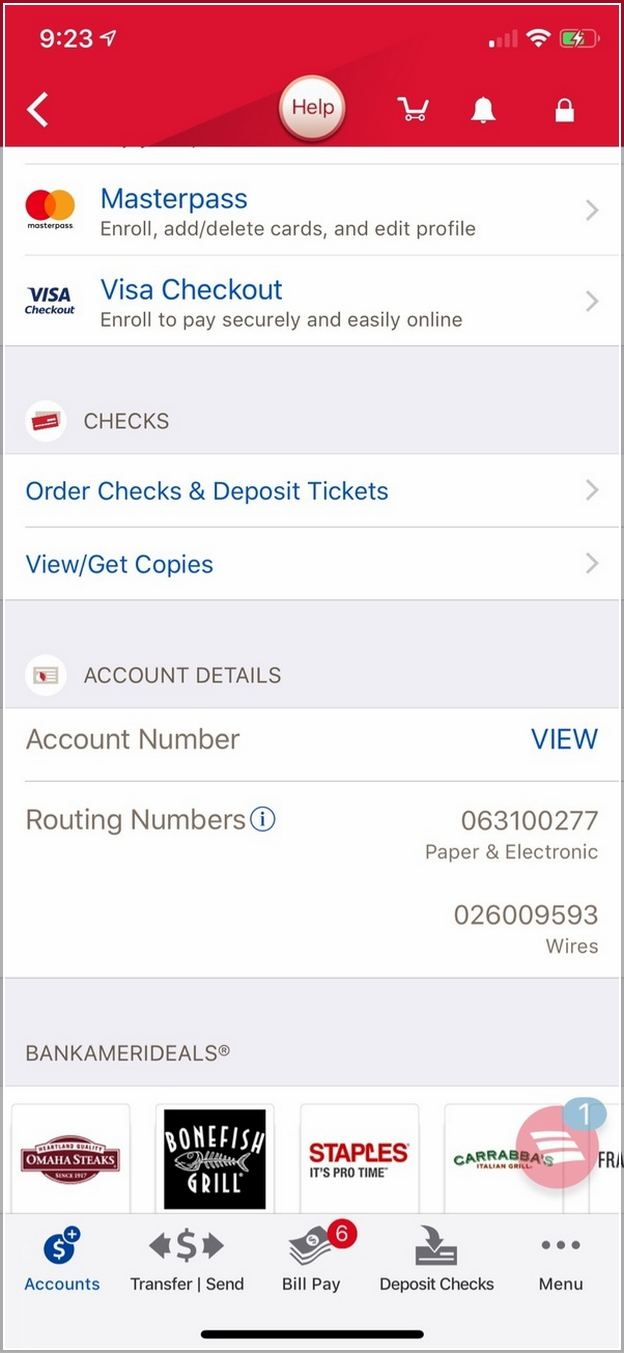 How To Find Routing Number Bank Of America App