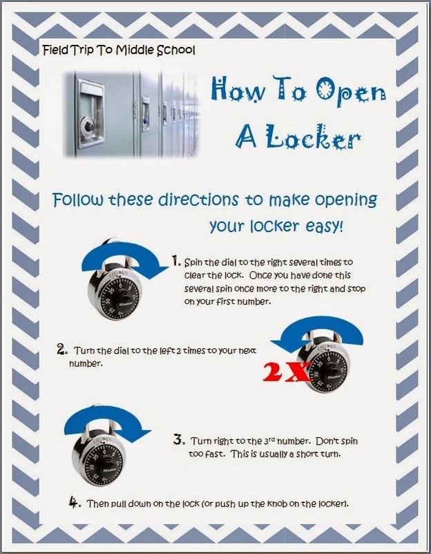 How To Open A Locker At School