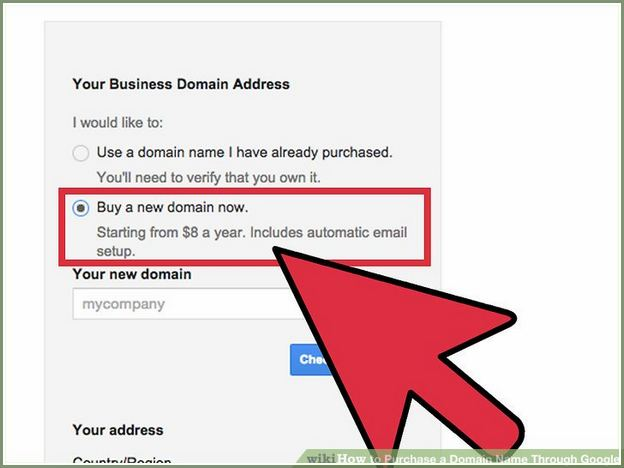 How To Purchase A Domain Name From Google