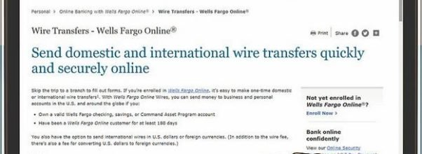 How To Wire Money Online Wells Fargo