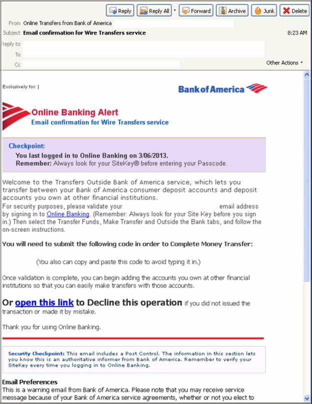 How To Wire Money Online With Bank Of America