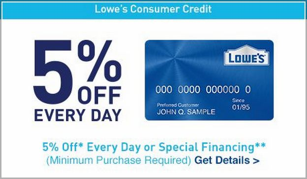 lowes credit card sign on