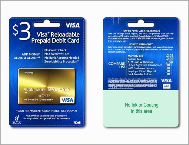 No Fees Prepaid Debit Card