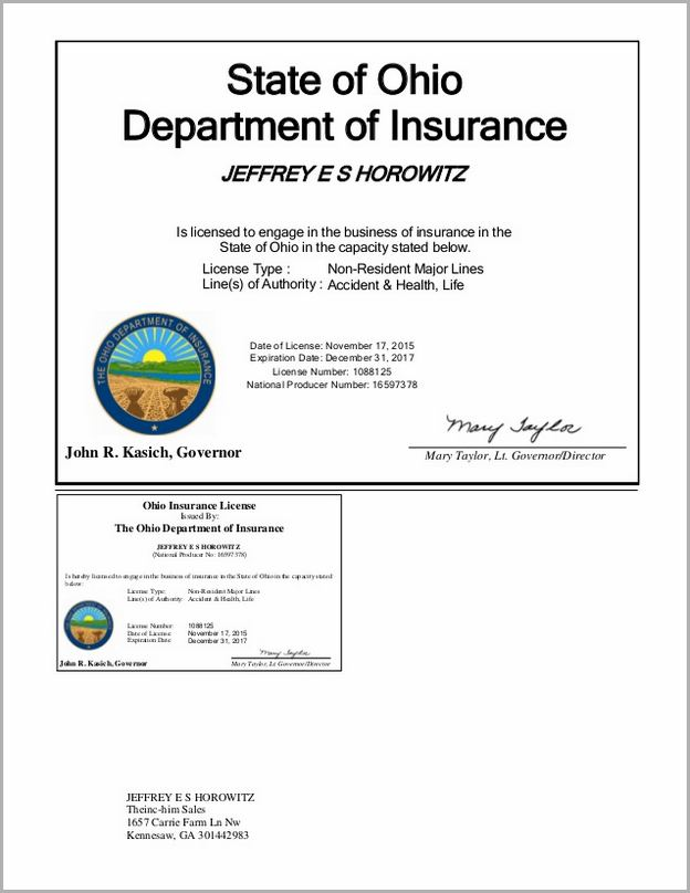 Ohio Dept Of Insurance License Renewal