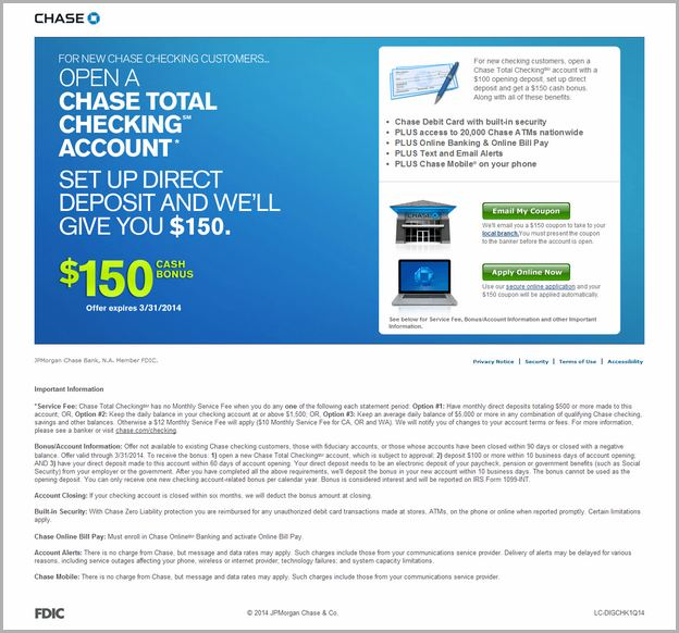 open bank account online chase bank