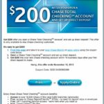Open Chase Checking Account Coupon