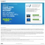 Open Chase Total Checking Account Online