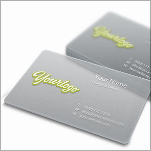plastic business cards vistaprint