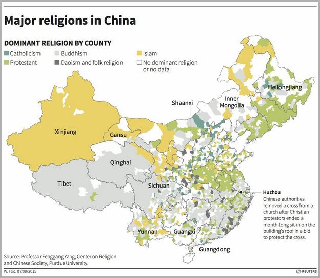 Population In China By Religion
