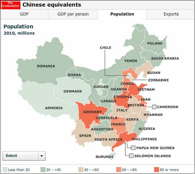 Population In China Cities