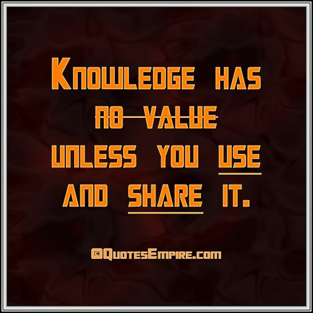 Quotes About Knowledge Sharing