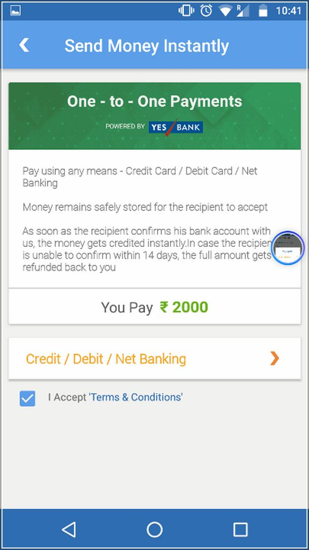 Send Money Online With Credit Card In India