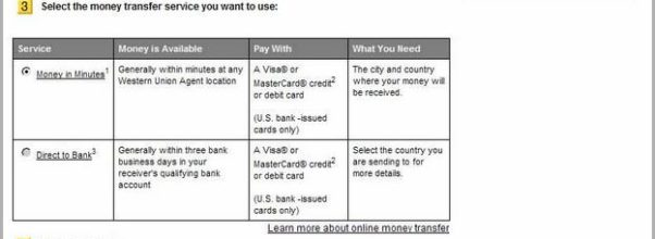 Send Money Online With Credit Card Western Union