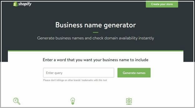 Shopify Business Name Availability