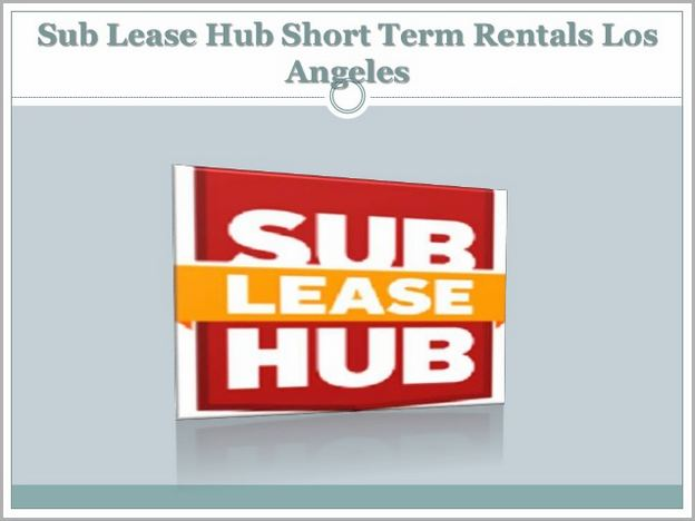 Short Term Lease Los Angeles